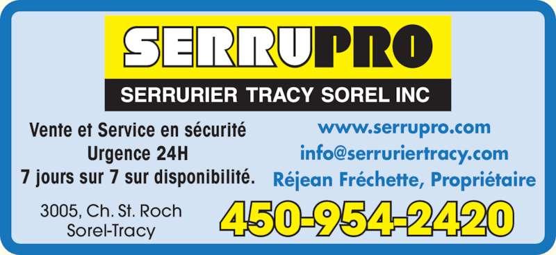 Serrurier Sorel Tracy - Sorel-Tracy, QC - 3005, ch Saint