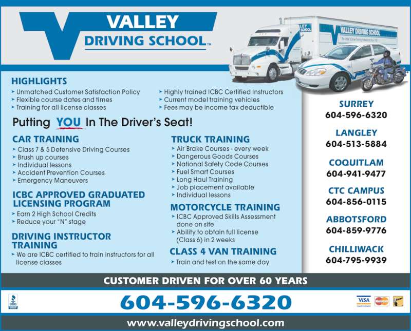 Valley Driving School Surrey Bc 8513 132 St Canpages