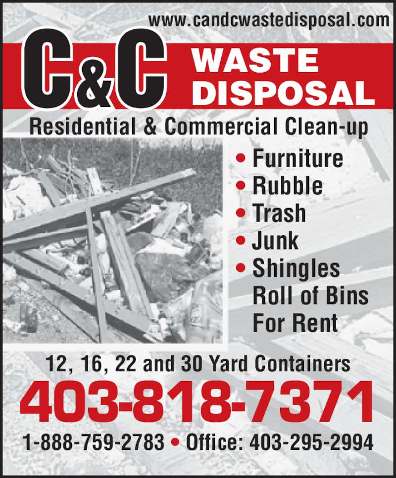 ad C & C Waste Disposal