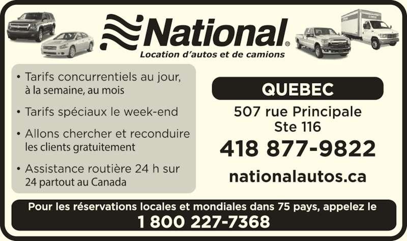 National Location d'Autos et de Camions (1-800-227-7368) - Annonce illustrée======= -
