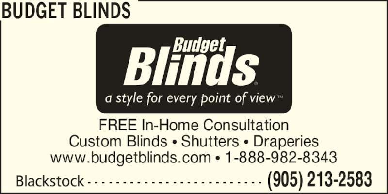 budget blinds opening hours 88 greensboro dr