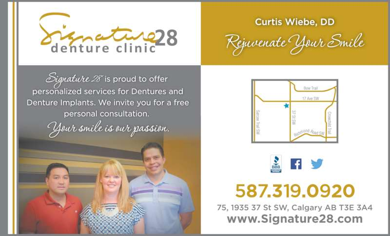 Signature 28 Denture Clinic (4032285311) - Display Ad -