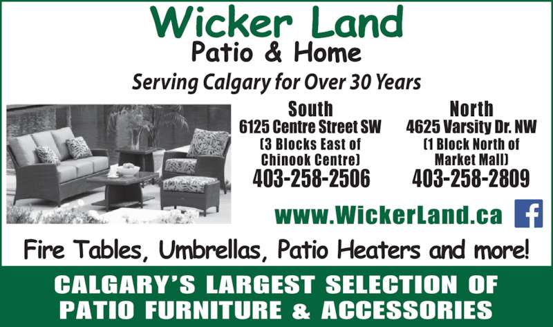 Wicker Land Patio Amp Home Opening Hours 6125 Centre St