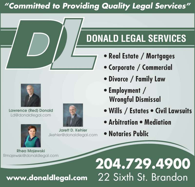 Donald Legal Services Brandon Mb 22 6th St Canpages