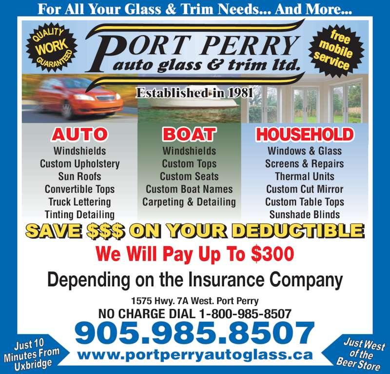 Port Perry Auto Glass Amp Trim Ltd