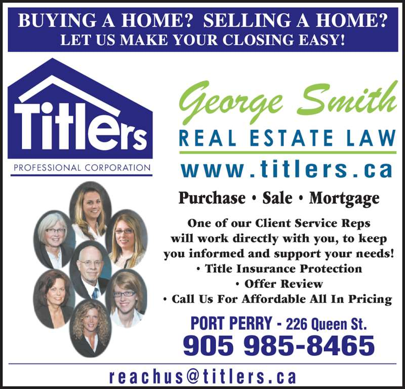 ad George Smith-Titlers Real Estate Law
