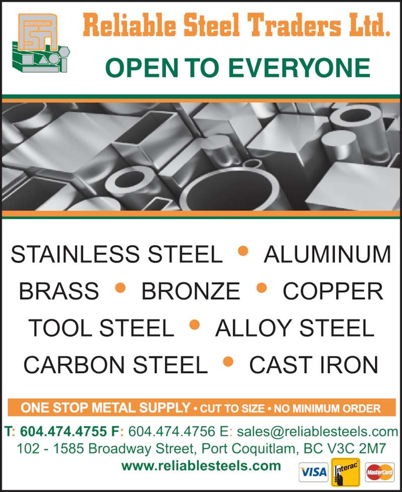 Reliable Steel Traders Ltd Port Coquitlam Bc 102 1585