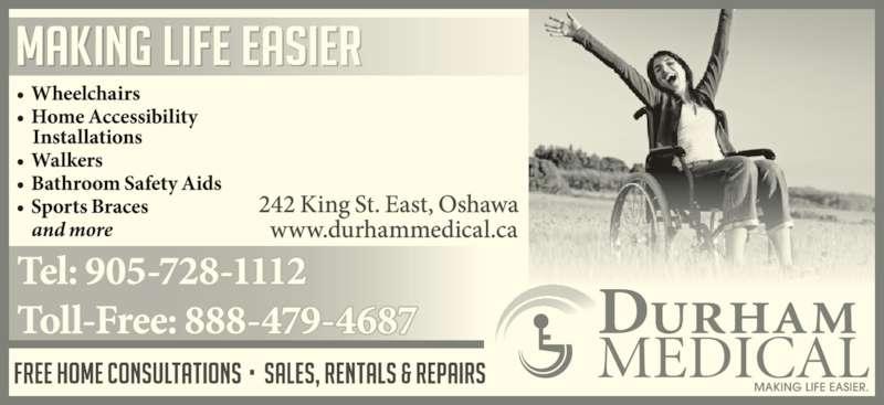 Durham Medical (905-728-1112) - Display Ad -