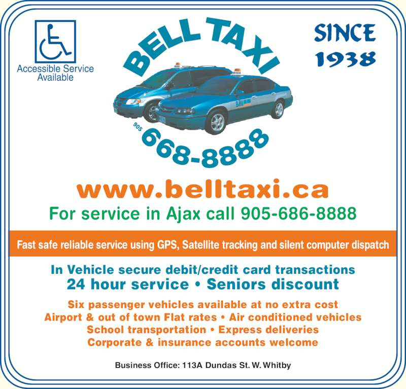Bell Taxi (905-668-8888) - Display Ad -