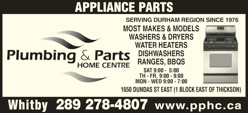 Plumbing & Parts Home Centre - Whitby, ON - 1650 Dundas St ...