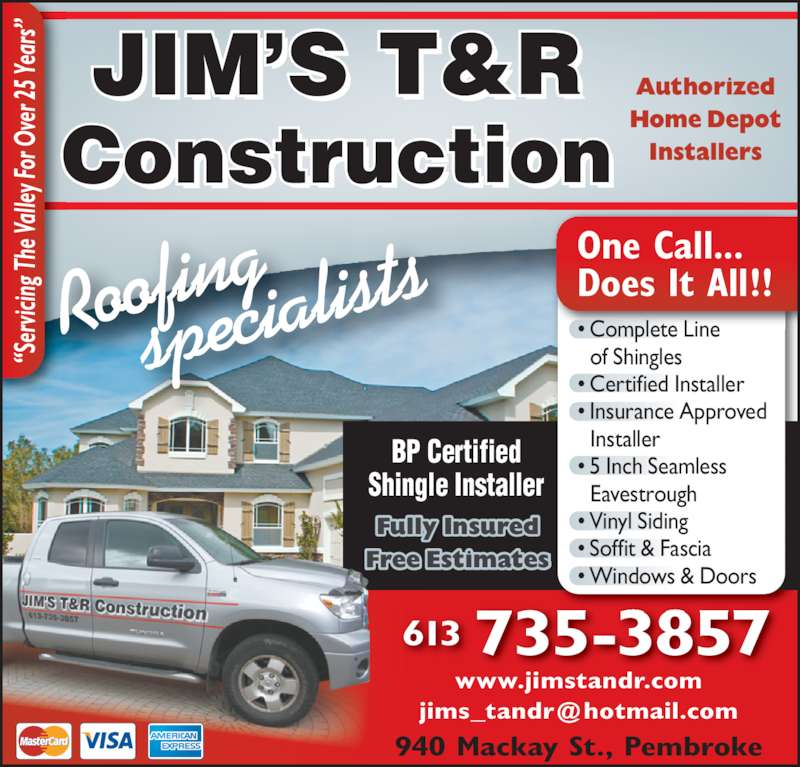 Jim S T Amp R Construction Ltd Opening Hours 940 Mackay St