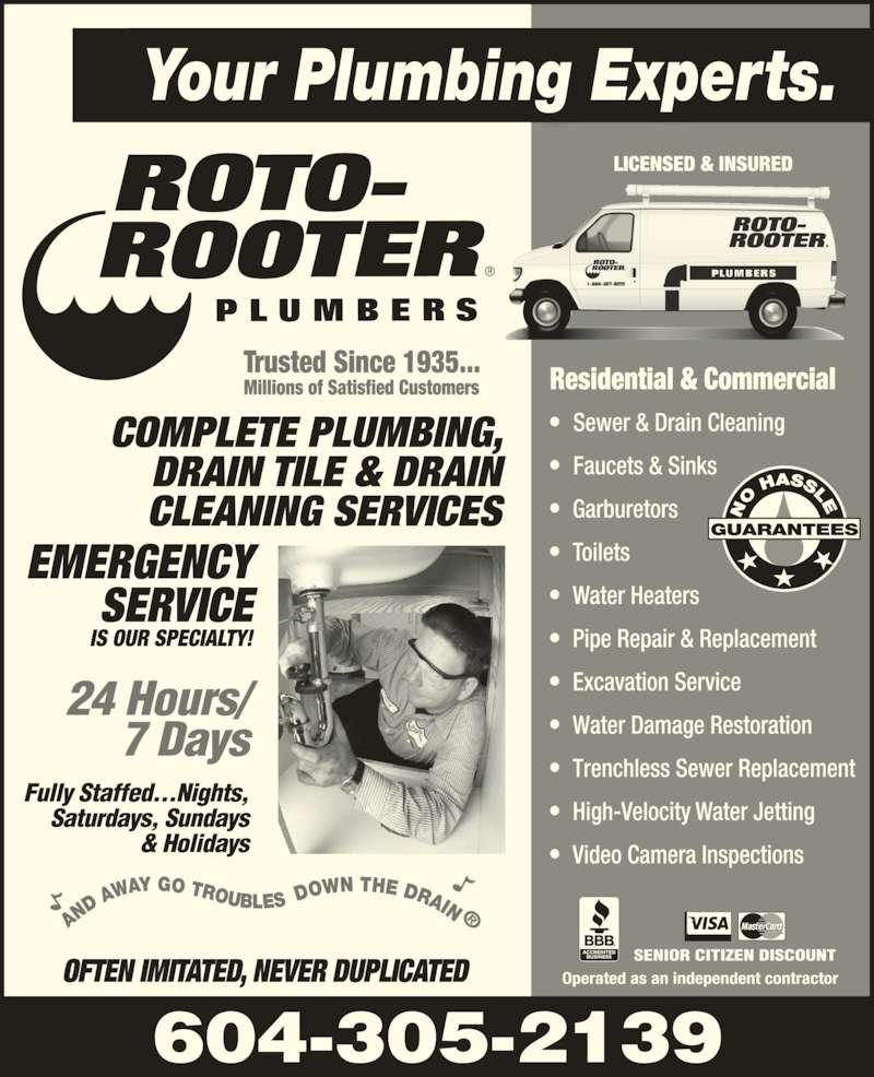 roto rooter plumbing service 307 20285 stewart cres maple ridge bc