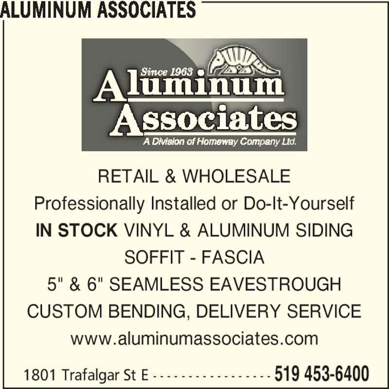 Aluminum Associates Opening Hours 1801 Trafalgar
