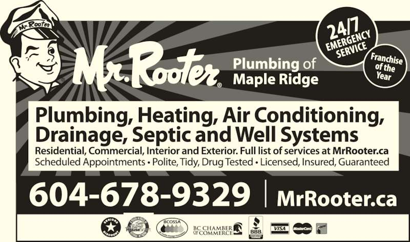 Mr Rooter Plumbing Of Maple Ridge (604-460-0208) - Display Ad -