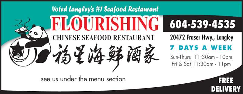 Flourishing Seafood Restaurant Langley