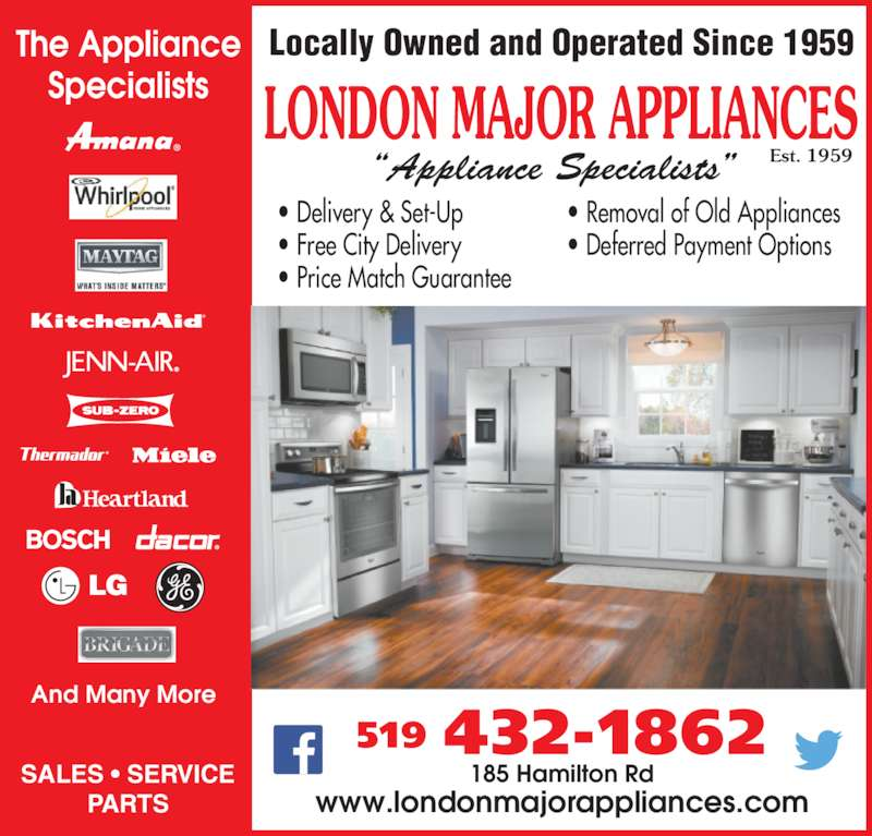 London Major Appliance Service Ltd Opening Hours 185