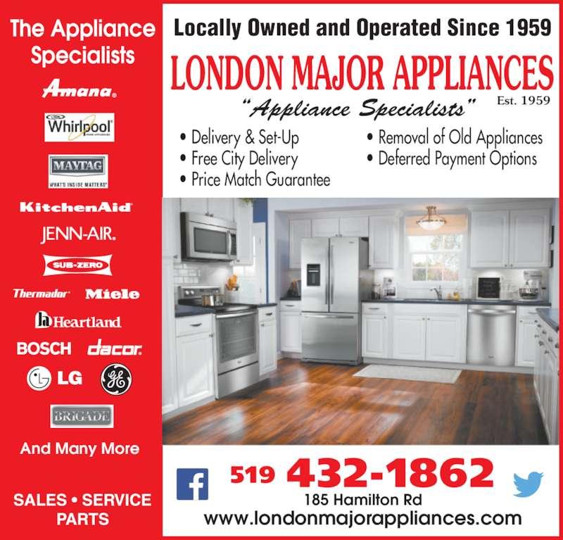 London Major Appliance Service Ltd London On 185