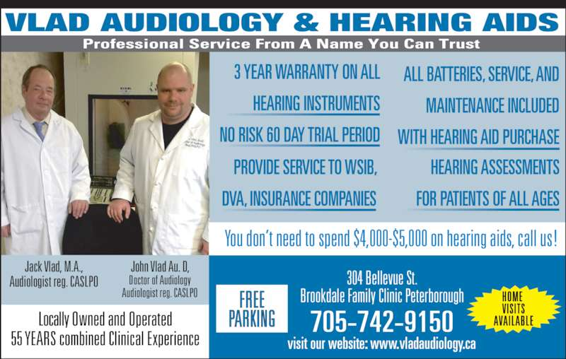 Vlad Audiology & Hearing Aids - Peterborough, ON - 304 ...