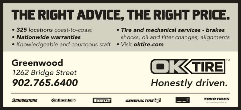 OK Tire (9027656400) - Display Ad -