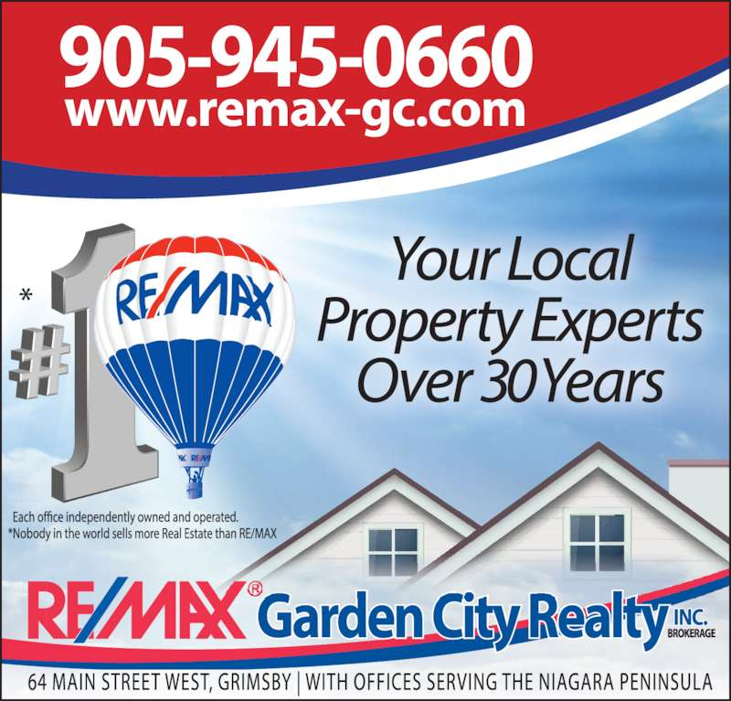 REMAX Garden City Realty Inc Brokerage Opening Hours 64 Main