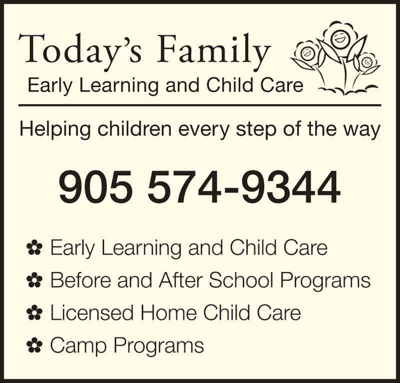 Today S Family Caring For Your Child Inc Head Office