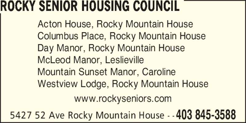 rocky mountain house senior dating site Western slope jobs  favorite this post may 31 rocky mountain cannabis ridgway is hiring  favorite this post may 31 restaurant front of house needed in aspen.