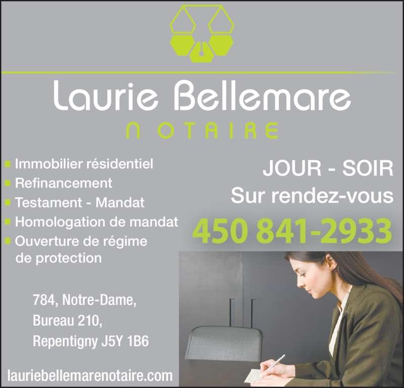 Laurie bellemare notaire repentigny qc 784 notre dame for Chambre de commerce de repentigny
