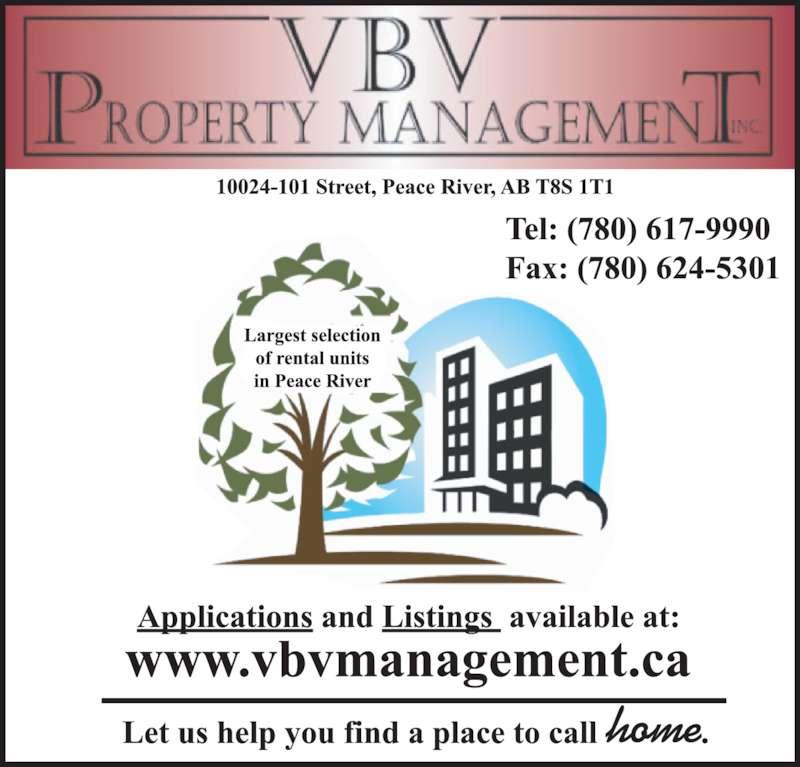 VBV Property Management (780-617-9990) - Display Ad -
