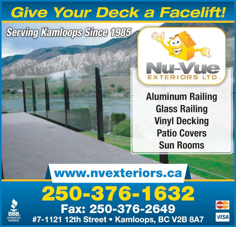 Nu Vue Exteriors Kamloops Bc 7 1121 12th St Canpages