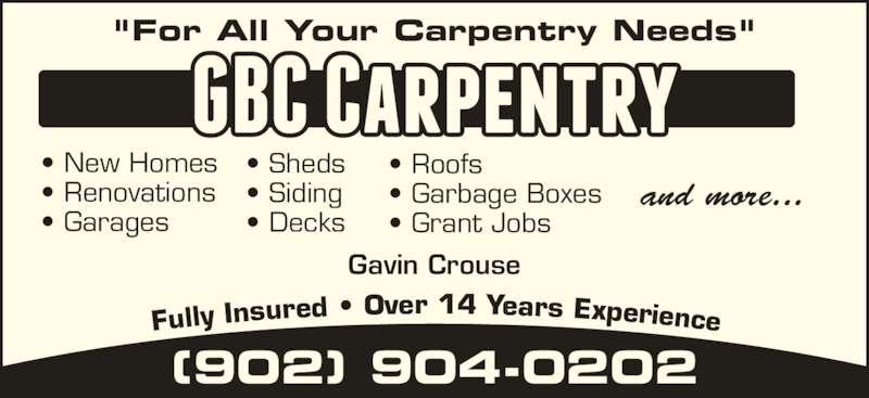 Gbc Carpentry Upper Branch Ns 3483 Upper Branch Rd