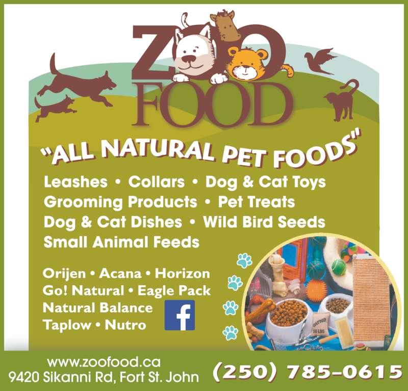 ZooFood Inc (250-785-0615) - Display Ad - (250) 785-0615 (250) 785-0615