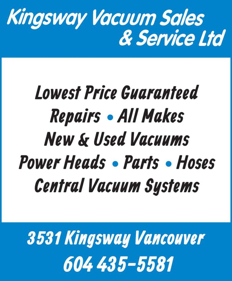 Kingsway Vacuum Amp Janitorial Supplies Opening Hours