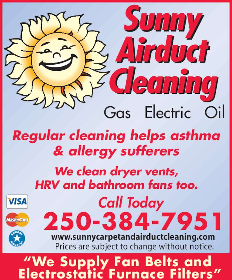 Sunny Airduct Cleaning Opening Hours 554 David St