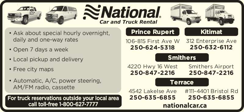 National Car Rental Prince Rupert Airport