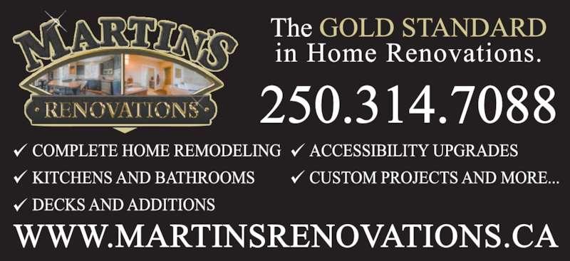 Martin's Renovations (250-314-7088) - Display Ad -
