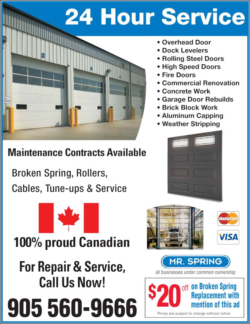 Garage One Inc Canpages
