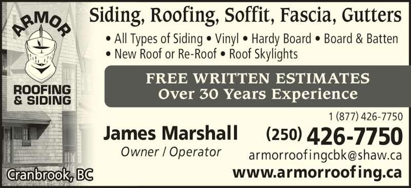 ... ad Armor Roofing u0026 Siding  sc 1 st  Canpages.ca & Armor Roofing u0026 Siding - Cranbrook BC - 115 5th Ave S | Canpages memphite.com