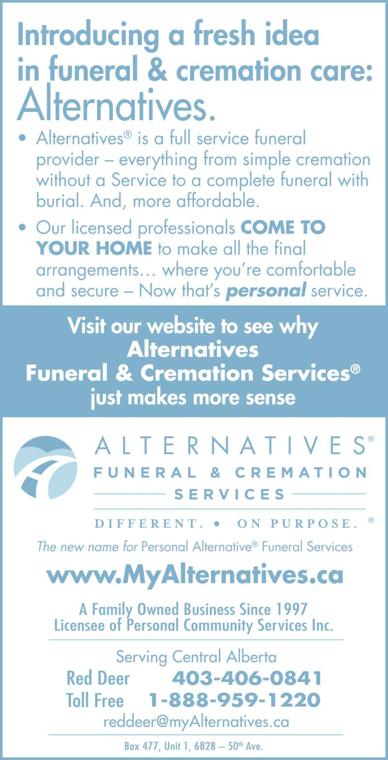 Alternatives Funeral & Cremation Services (4033415181) - Display Ad - 403-341-5181 1-888-216-5111