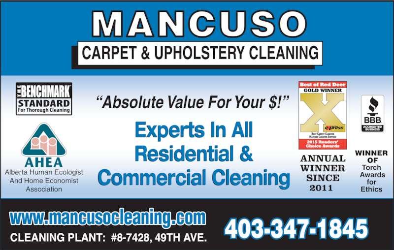 Mancuso Carpet Cleaning Red Deer Ab 8 7428 49 Avenue