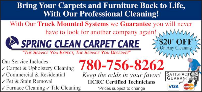 Spring Clean Carpet Care Edmonton Ab 12814 143a Ave