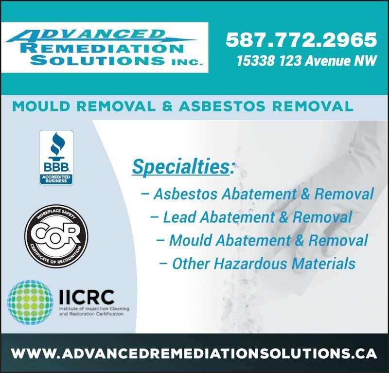 Advanced Remediation Solutions Inc (7804665105) - Display Ad - 587.772.2965