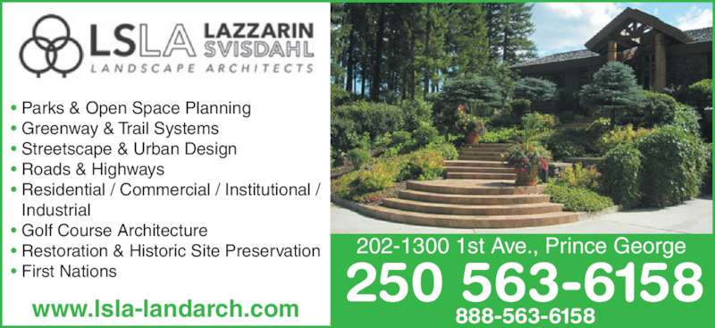 Lazzarin svisdahl landscape architects opening hours for Bc landscape architects