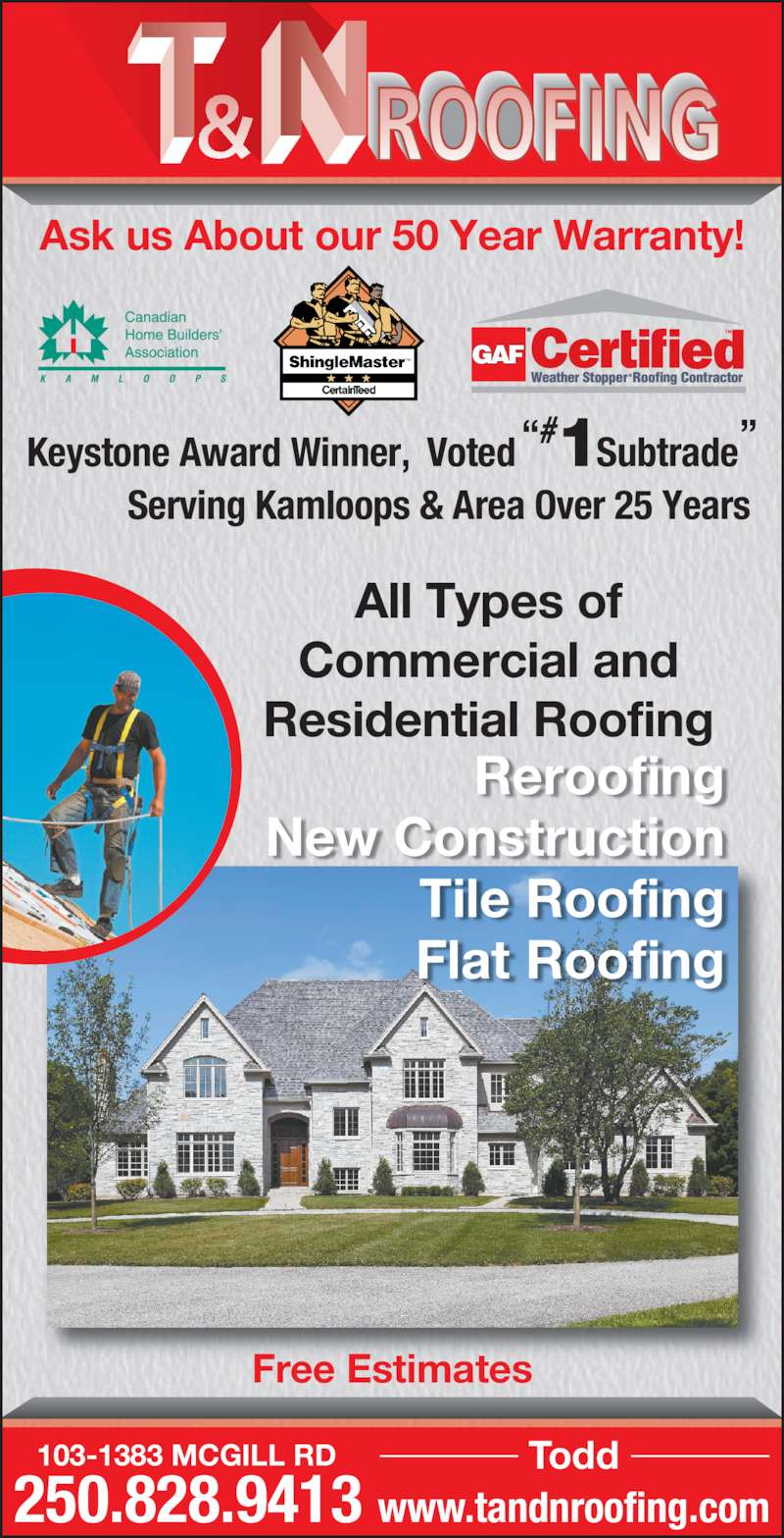 Kamloops Roofing Reviews