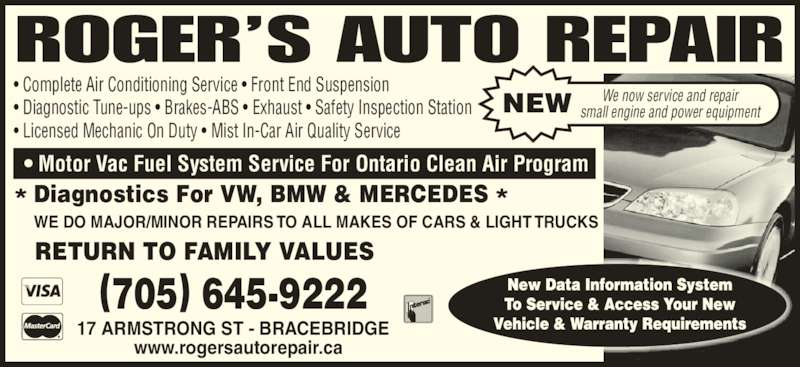 Roger S Auto Repair Port Carling On 1052 Peninsula Rd