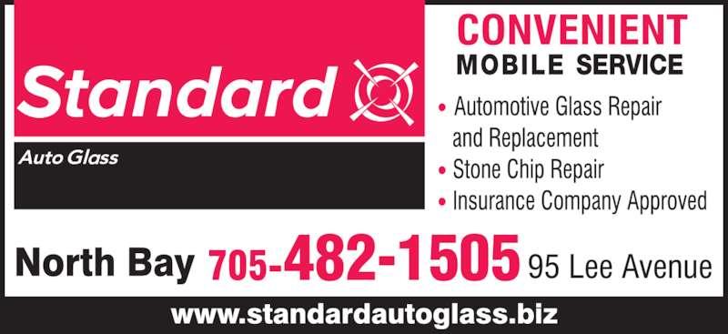 Standard Auto Glass (705-474-1010) - Display Ad - 482-1505