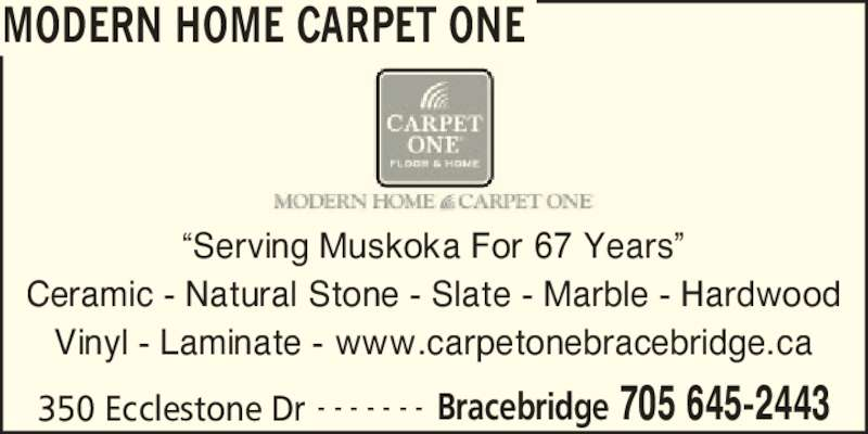 Modern Home Carpet One Bracebridge ON 350 Ecclestone