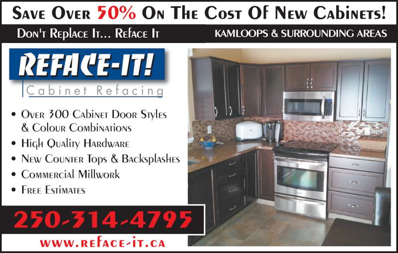 Reface it cabinet refacing opening hours 698 sydney for Kitchen cabinets kamloops