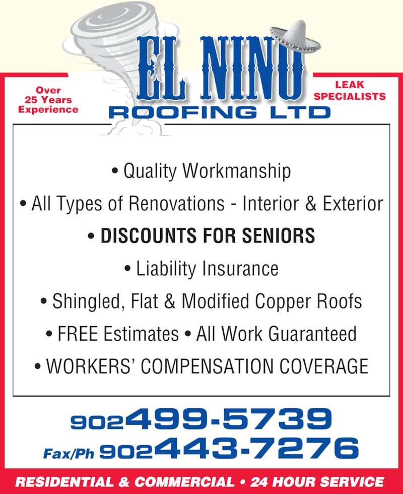 El Nino Roofing Ltd 8 Frederick Ave Halifax Ns