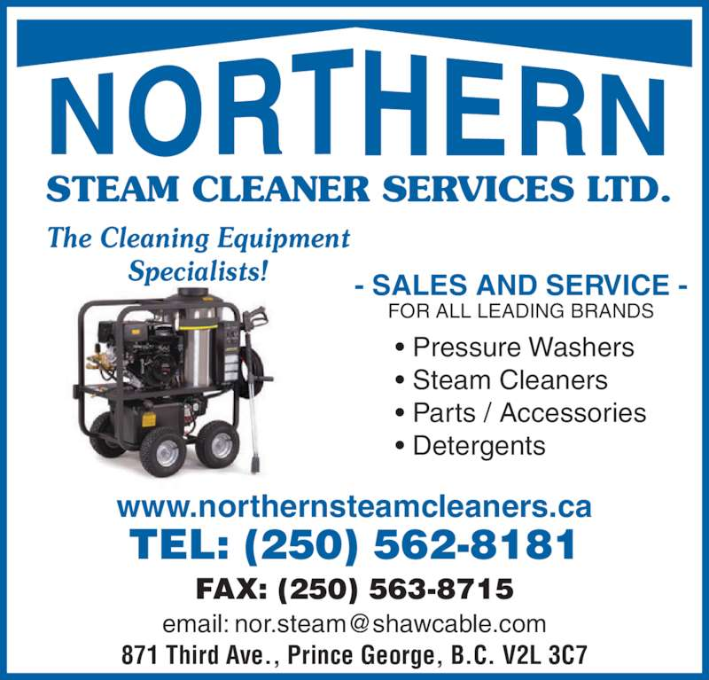 Northern Steam Cleaners Services Ltd Prince George Bc
