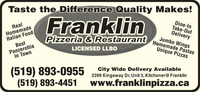 Franklin Pizzeria and Restaurant - At Franklin (5198930955) - Display Ad -